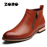 Promo Zoro Bahasa Italia Mens Ankle Boots Genuine Leather Handmade Kantor Bisnis Pria Cokelat Intl Di Tiongkok