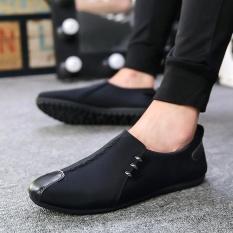 Harga Zoro Leather Mens Pantofel Sepatu 2017 Fashion Pria Flats Sepatu Kasual Slip On Outdoor Berjalan Men S Boat Shoe Hitam Termurah
