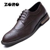 Harga Zoro Mewah Perancang Italia Genuine Leather Lace Up Mens Formal Gaun Pesta Kantor Pernikahan Sepatu Cokelat Intl Branded