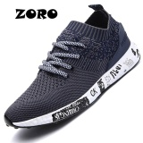 Toko Zoro Pria 2017 Light Running Shoes Tekstil Bernapas Sneakers English Olahraga Sepatu Ukuran 37 45 Navy Biru Lengkap Tiongkok