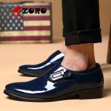 Jual Zoro Sepatu Pria Busana Kulit Sepatu Santai Untuk Pria Slip On Mode Sepatu Pernikahan Bisnis Breathable Flats Pria Oxfords Biru Intl Grosir