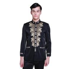 Zos Baju Koko Atasan Pria Baju Jas Koko Fashion Pria Bordir Baju Muslim Pria Tangan Panjang
