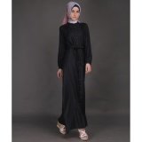 Toko Zoya Dress Muslimah Hadid Dress Black Zoya