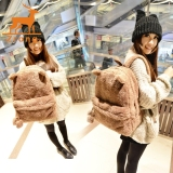 Zrong Fashion Lady Women S Young Cute Plush Bag Backpack College Campus Book Backpack Brown Intl Murah