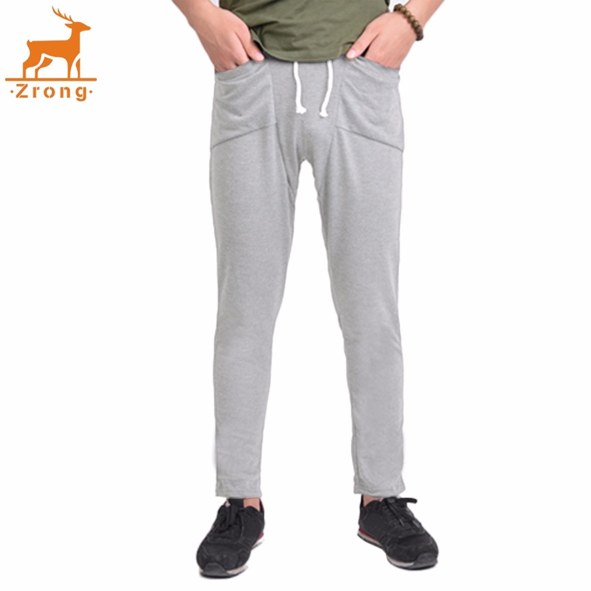 Gaya: membahayakan celana Zrong Baru Pria Reguler Fit Olahraga Harem Celana Tas Jogging Celana-Intl