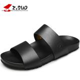 Toko Z.suo Karakter Laki Laki Sandal Jepit Kulit Sendal Model Pria 16516 Hitam Online Terpercaya