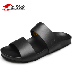 Jual Z.suo Karakter Laki Laki Sandal Jepit Kulit Sendal Model Pria 16516 Hitam Original