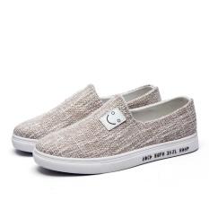 ZUNCLE Pria Sepatu Kanvas Wajah Tersenyum Carrefour SEPATU-Intl