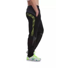 Zuncle Pria Sports Pants Pelatihan Celana Panjang Lengan Bergaris Garis Elastis Kuning Zuncle Diskon