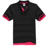 Ulasan Tentang Zuncle Polo Pria Kemeja Lengan Pendek Kemeja Tenis Golf Hitam Merah