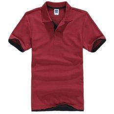 Jual Zuncle Polo Pria Kemeja Lengan Pendek Kemeja Tenis Golf Merah Hitam Branded Murah