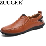 Diskon Zuucee Big Size Loafers Men Driving Shoes Casual Moccasin Gommino Shoes Red Brown Intl Zuucee Di Tiongkok