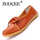 Harga Zuucee Bird S Nest Lubang Sepatu Datar Sandal Sandal Musim Panas Sepatu Peas Sepatu Kulit Kasual Wanita Mid Size Code Ibu Sepatu Orange Intl Zuucee Asli