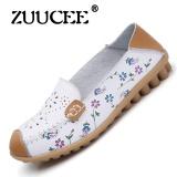 Spek Zuucee Fashion Flat Dengan Sepatu Casual Lace Dengan Satu Sepatu Sepatu Putih Kecil Wanita Round Leather Flat Shoes Wanita Siswa Putih Intl Zuucee