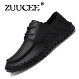 Jual Zuucee Fashion Mens Casual Sepatu Cowhide Mengemudi Pria Flat Shoes Hitam Intl Online