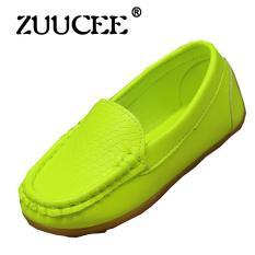 ZUUCEE Gadis Fashion Lembut Permukaan Lembut Bawah Sepatu Santai Sepatu Datar (Green)