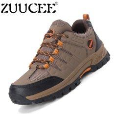 Jual Zuucee Pria Fashion Hiking Sepatu Bernapas Kolam Olahraga Sepatu Kasual Brown Intl