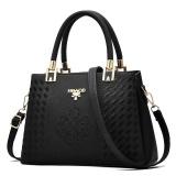 Ongkos Kirim Zuucee Women Fashion Handbags Pu Leather Shoulder Lady Bags Messenger Big Leisure Handbag For Women Black Intl Di Tiongkok