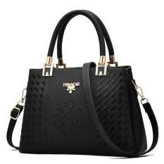 Cara Beli Zuucee Women Fashion Handbags Pu Leather Shoulder Lady Bags Messenger Big Leisure Handbag For Women Black Intl
