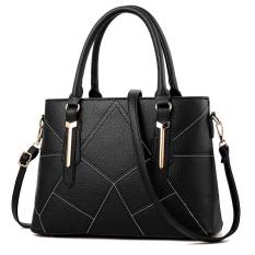 Ulasan Mengenai Zuucee Wanita Fashion Handbags Pu Leather Shoulder Lady Tas Messenger Big Leisure Handbag Untuk Wanita Hitam Intl