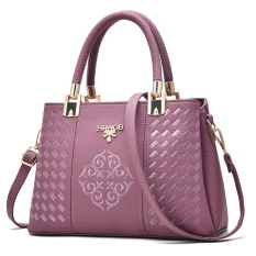 ZUUCEE Wanita Fashion Handbags PU Leather Shoulder Lady Tas Messenger Big Leisure Handbag untuk Wanita, China (ungu)