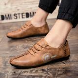 Iklan Zyats 2017 Musim Semi Baru Peas Pria Korea Fashion Kasual Kulit Sepatu Pantofel Intl