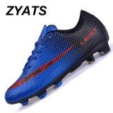 Harga Zyats 2017 Baru Sepatu Sepakbola Pria Lace Up Tf Pria Pelatih Profesional Football Sepatu Outdoor Boys Sneakers Kasut Lelaki Biru Yg Bagus