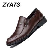 Toko Zyats 2017 Spring Baru Sepatu Pria Bisnis Suits Pria Sepatu Kasual Kaki Pada Orang Tua Ayah Sepatu Brown Online Tiongkok