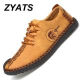 Spesifikasi Zyats Kulit Men S Flats Sepatu Moccasin Casual Loafers Besar Ukuran 38 46 Kuning Dan Harga