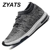 Toko Jual Zyats Pria Lace Up Menjalankan Sepatu Untuk Outdoor Sport Air Mesh Bernapas Sneakers Super Light Redaman Air Sepatu Hitam