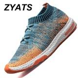 Promo Zyats Pria Lace Up Menjalankan Sepatu Untuk Outdoor Sport Air Mesh Bernapas Sneakers Super Light Redaman Air Sepatu Orange Murah