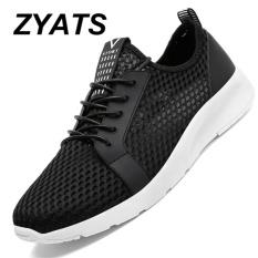 Review Zyats Pria Sneakers 2017 Pria Berlari Sepatu Tren A Olahraga Mesh Sepatu Bernapas Pelatih Sneakers Hitam Zyats Di Tiongkok