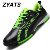 Spesifikasi Zyats Sepatu Sepak Bola Pria Slip Tahan Rumput Futsal Sepatu End Pelatihan Hitam Merk Zyats