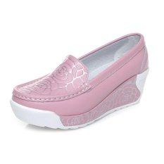 Spesifikasi Zysk 2016 Baru Musim Semi Musim Panas Gaya Tinggi Meningkatkan Sepatu Kasual Wanita Lembut Fashion Print Women Sepatu Untuk Wanita Pink Z061404 Murah Berkualitas