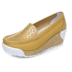 Beli Zysk 2016 Baru Musim Semi And Panas Musim Gaya Peninggi Sepatu Kasual Wanita Lembut Cetak Sepatu Wanita Fashion Untuk Wanita China Kuning Z061402 Terbaru