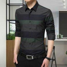 Zysk Men Formal Long Sleeve Shirts Green 22583 Intl Tiongkok Diskon