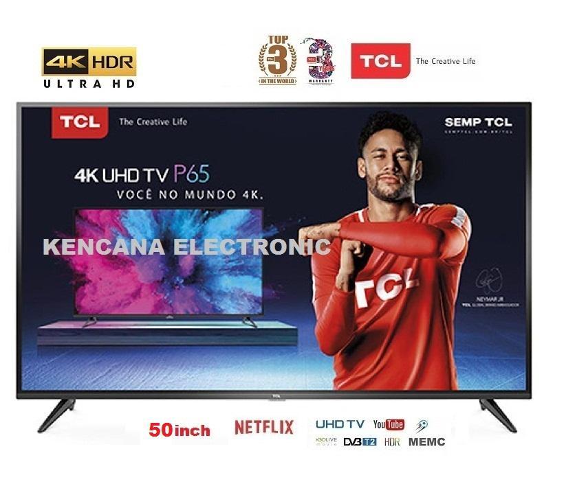 TCL L50P65US LED (50inch) Smart TV HDR- 4K UHD-WIFI FREE ONGKIR Khusus JABODETABEK