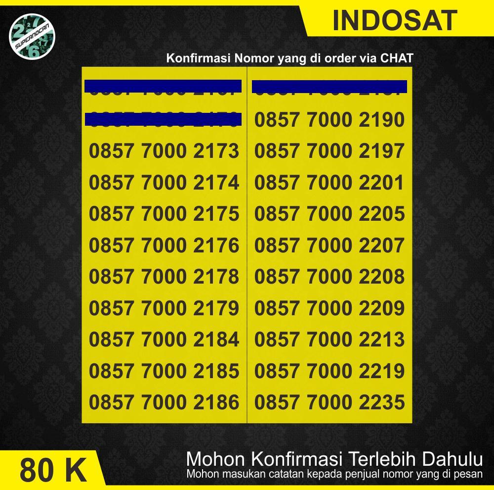 Nomor Cantik Indosat Im3 Seri 7000 Murah