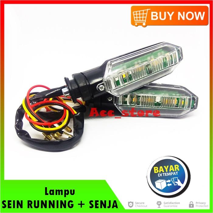 Lampu SEIN RUNNING Plus SENJA 2 Warna Untuk Motor HONDA CB150R NEW / CBR 150 / VARIO 125 LED / VARIO 150 LED pnp - MERAH & KUNING