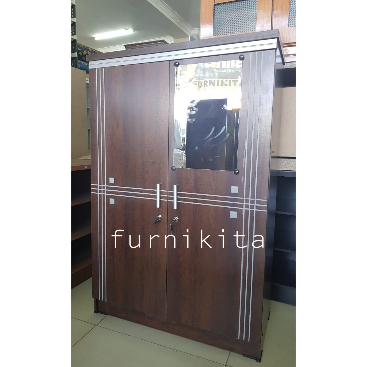 Lemari Pakaian Kecil Kayu Dengan Kaca Baby Locker Lt02 By Furnikita Furniture.