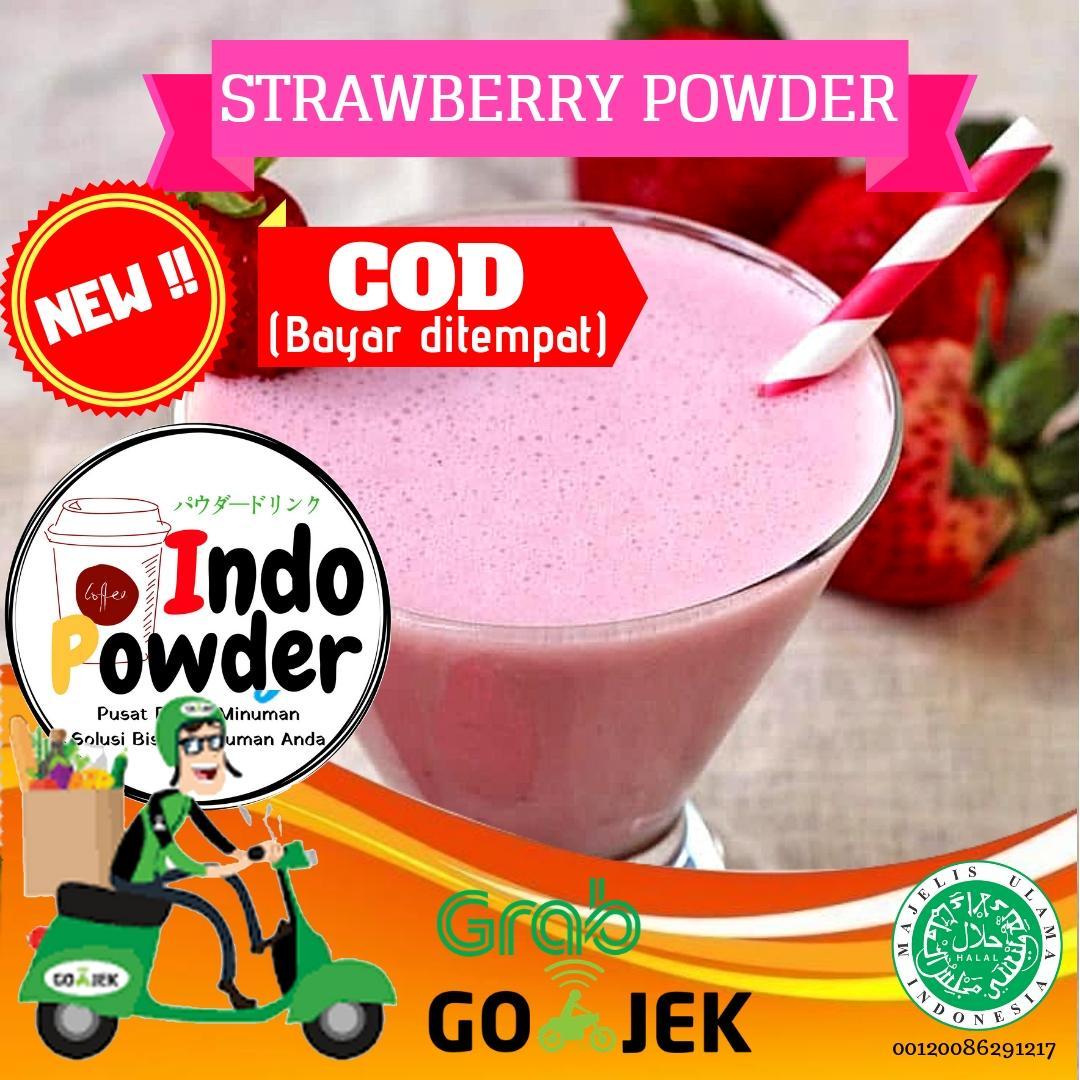 Strawberry Powder 1kg / Powder Straberry 1kg / Bubuk Strawberry 1 Kg / Strawberry Bubuk 1 Kg / Bubuk Minuman Rasa Strawberry / Bubuk Minuman Strawberry 1 Kg By Indopowder.