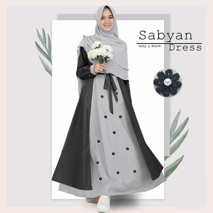 BAJU GAMIS SYARI WANITA / BUSANA MUSLIM WANITA / SABYAN DRESS TERMURAH