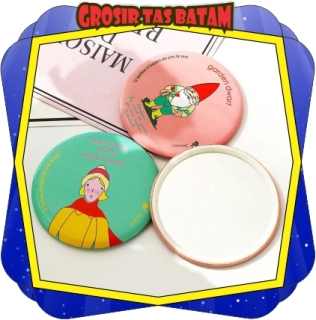GTB - R029 EADY STOCK HAND MIRROR CERMIN KACA BULAT MAKE UP TRAVELING KARAKTER LUCU IMPORT BATAM thumbnail
