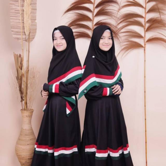 Gamis Palestina Syari Anak Gamis Anak Anak Usia 8 9 Tahun Kerudung Palestina Segi Empat 130x130cm Lazada Indonesia