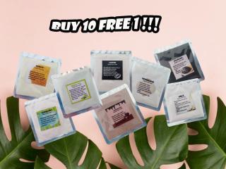 [10 Free 1 pcs ] 5gr Face Organic Mask Masker Organik Masker Kecantikan Spirulina thumbnail