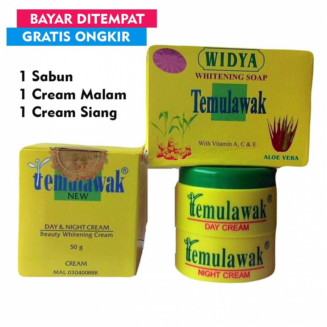 [PAKET KOMPLIT] Temulawak Original Krim Pemutih Wajah Cantik - Cream Temulawak Original + Sabun