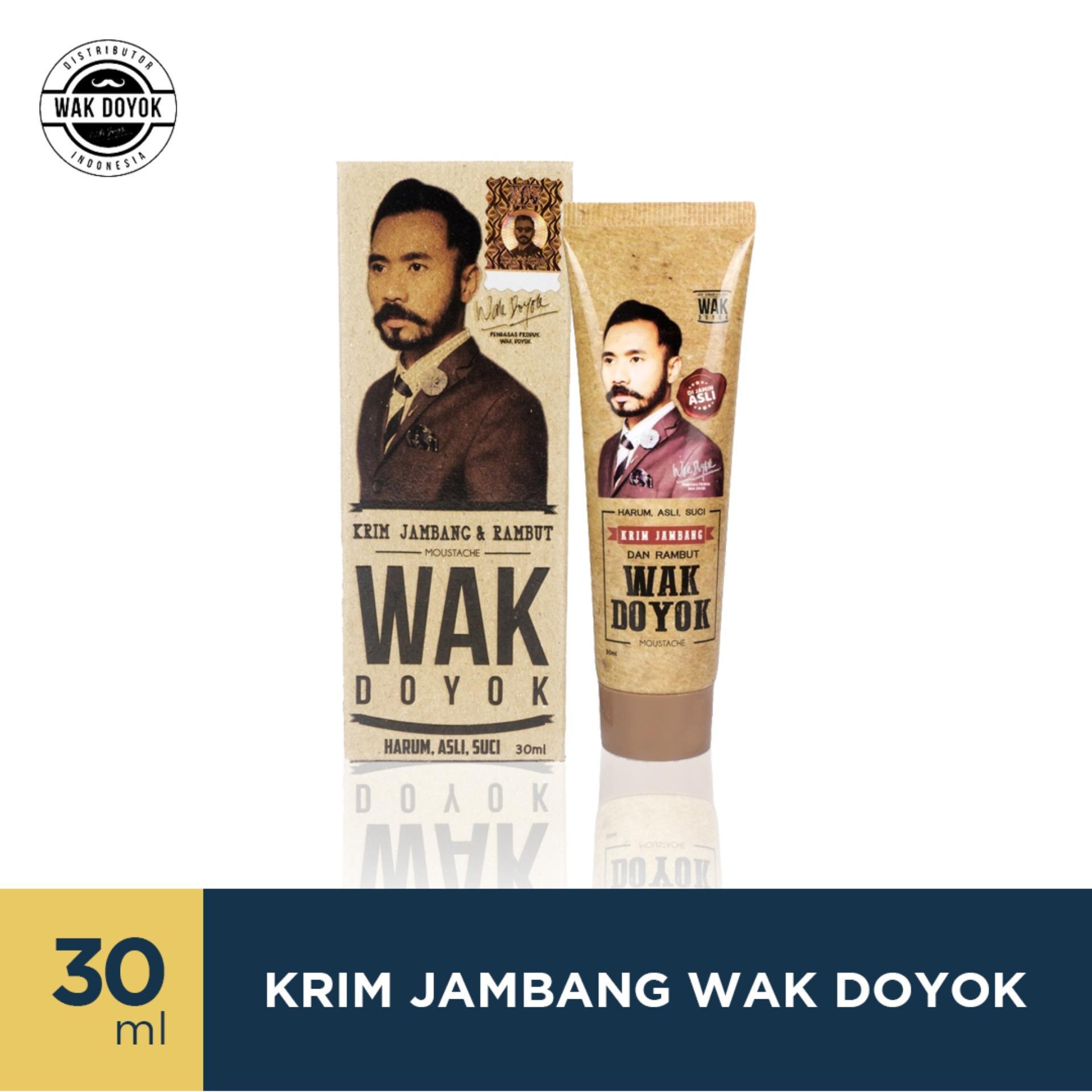 PROMO SPECIAL Wak Doyok Cream 30ml Original - Wakdoyok Krim Penumbuh Jambang, Rambut dan Alis