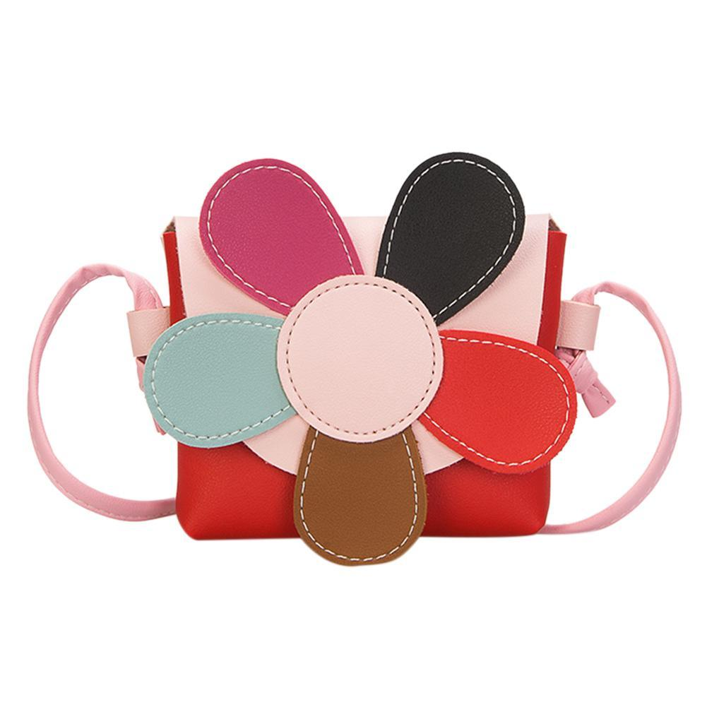 0a6174cecc129 Princess Flower Mini Messenger Shoulder Bag Kids Girls PU Coin Wallet Red