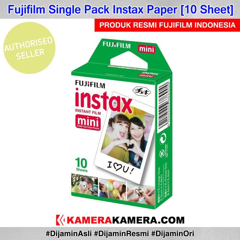 Fujifilm Instax Paper Single Pack 10 Sheet Original By Kamerakamera.