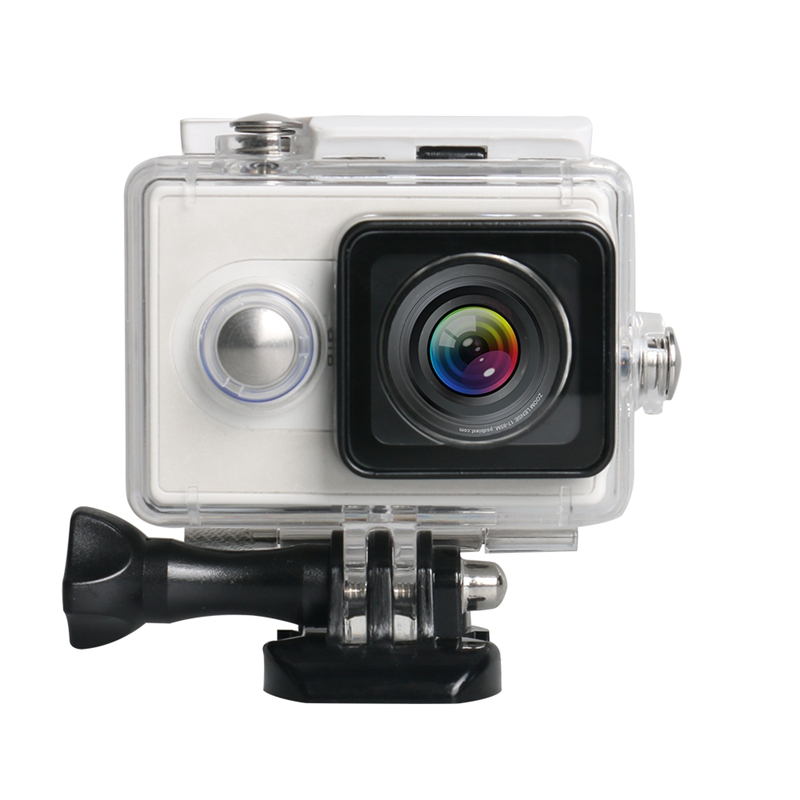 For Xiaomi Yi Sports Action Camera Waterproof Underwater Diving Housing Case 40M(White)